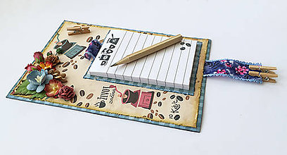 Papiernictvo - Poznámkový blok na chladničku - 10560036_