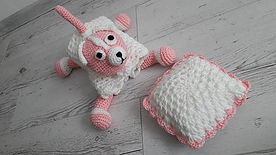 Textil - prikrývka psíková - bielo -ružová - 10558614_
