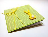Papiernictvo - Pohľadnica ... malá  veľkonočná II (Zelená) - 10562638_