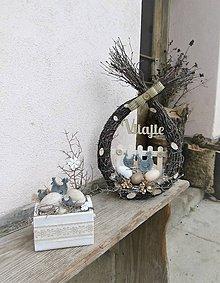 Dekorácie - Veľkonočný set so sliepočkami - 10562691_