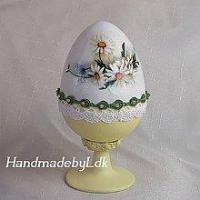 Dekorácie - Vajíčko so stojanom - Margaretky II - 10560253_