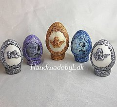 Dekorácie - Sada vintage - Dračie vajíčka do stojanom - 10561321_