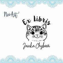 Nezaradené - Pečiatka EX LIBRIS mačička 1 - 10562063_
