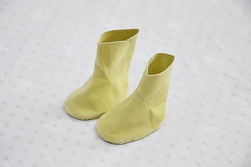Semišové čižmičky žlté