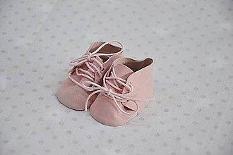 Hračky - Semišové topánočky ružové - 10560559_