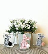 Dekorácie - Svietnik-zajačik - 10561941_