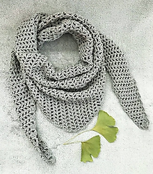 Šatky - Šatka / šál (Šedá) - 10561883_