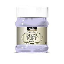 Farby-laky - Dekor paint soft - 230 ml (svetlá fialová) - 10560261_