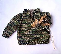 Detské oblečenie - Svetrík detský maskáčový - 10562139_