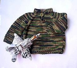 Detské oblečenie - Svetrík detský maskáčový - 10562140_