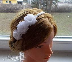 Ozdoby do vlasov - čelenka biela - 10561818_