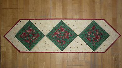 Úžitkový textil - Obrus, štóla na stôl vianočná 122x36cm - 10560064_