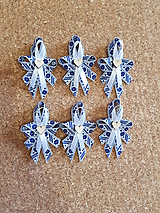 folklórne pierka bielo-modré pre rodičov, svedkov