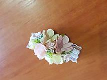 Pierka - náramok pre družičky púdrovo-ružový - 10561211_