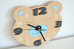 Detské doplnky - Funkčné dizajnové hodiny – medvedík - 10560967_