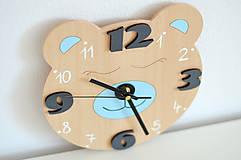 Detské doplnky - Funkčné dizajnové hodiny – tichý strojček - 10560967_