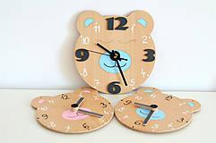 Detské doplnky - Funkčné dizajnové hodiny – tichý strojček - 10560969_