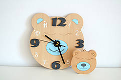 Detské doplnky - Funkčné dizajnové hodiny – medvedík - 10560970_