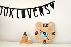 Detské doplnky - Funkčné dizajnové hodiny – tichý strojček - 10560972_