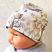Detské čiapky - Zvířátka - čepička - 10563091_