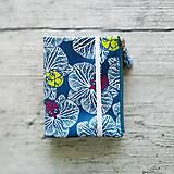 - SIUS blok A6 - modrý s bielou potlačou - 10560406_