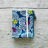 Papiernictvo - SIUS blok A6 - modrý s bielou potlačou - 10560406_