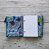 Papiernictvo - SIUS blok A6 - modrý s bielou potlačou - 10560410_