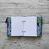 Papiernictvo - SIUS blok A6 - modrý s bielou potlačou - 10560411_