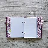 Papiernictvo - SIUS blok A6 - biely s ružovou potlačou - 10560432_