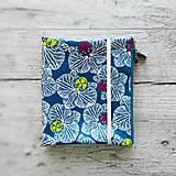Papiernictvo - SIUS blok A5 - modrý s bielou potlačou - 10560520_