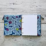 Papiernictvo - SIUS blok A5 - modrý s bielou potlačou - 10560527_