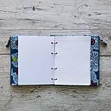 Papiernictvo - SIUS blok A5 - modrý s bielou potlačou - 10560530_