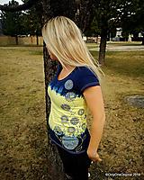 Topy, tričká, tielka - Dámske tričko batikované, maľované, etno  PRVOSIENKY - 10560723_