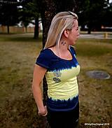 Topy, tričká, tielka - Dámske tričko batikované, maľované, etno  PRVOSIENKY - 10560746_