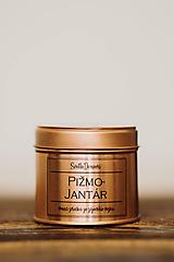 Sójová sviečka v plechovke - RoseGold - Pižmo&Jantár