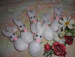 Dekorácie - Veľkonočný zajačik. - 10560203_