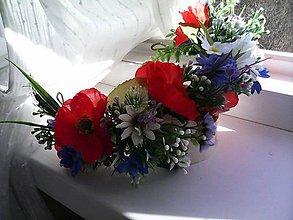 """Ozdoby do vlasov - Svadobný kvetinový polvenček """"...lúčne tajomstvá..."""" - 10561156_"""