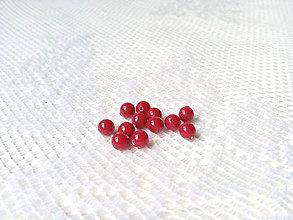 Korálky - Swarovski perly 4mm - red coral - 10561956_