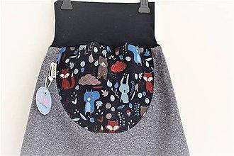 """Detské oblečenie - Softshellky """"lesné zvieratká"""" - 10560166_"""