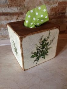 Krabičky - Konvalinkový box na servítky - 10562773_