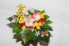 Dekorácie - Dekorácia na stôl - čerešňové kvety - 10560076_