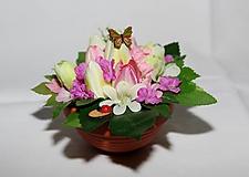 Dekorácie - Dekorácia na stôl - tulipány v ružovom - 10560080_