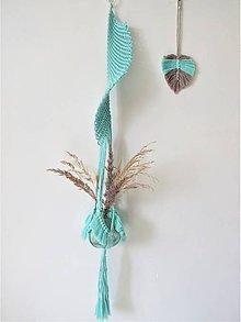 Dekorácie - Makramé závesný kvetináč WING - 10561601_