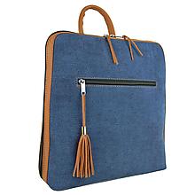 Batohy - Dámsky ruksak z talianskej prírodnej kože, tehlová - 10562561_