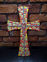 Dekorácie - Kríž perličkový II. - 10563179_