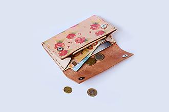 Peňaženky - Kožená peňaženka - veľká, na mince, na karty, bankovky - 10561596_