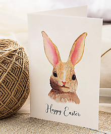 Papiernictvo - Veľkonočný pozdrav / pohľadnica (Zajac hlava - dvojhárok) - 10562351_