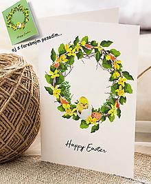 Papiernictvo - Veľkonočný pozdrav / pohľadnica (Kuriatko 1 - dvojhárok) - 10562407_