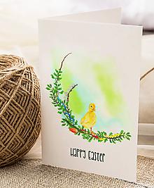 Papiernictvo - Veľkonočný pozdrav / pohľadnica (Kačiatko 3 - dvojhárok) - 10562423_
