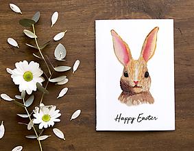 Papiernictvo - Veľkonočný pozdrav / pohľadnica (Zajac hlava - klasik) - 10562633_